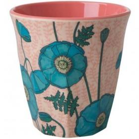 Rice - melamine cup: Poppy Rose (medium)