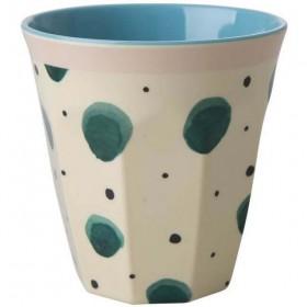 Rice - melamine cup: Watercolor Splash (medium)