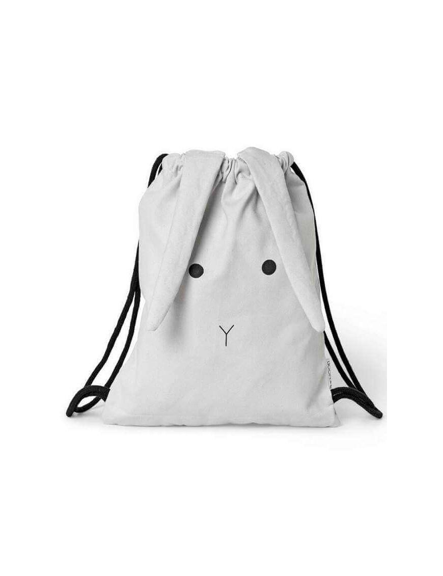 Liewood - sac de gym: lapin - gris