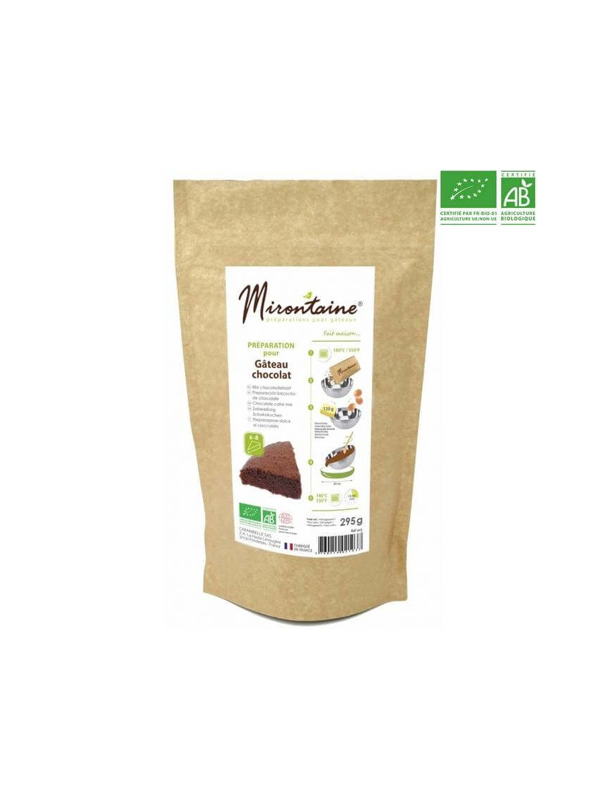 organic baking mix - chocolate cake