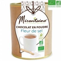 Préparation bio: chocolat en poudre à la fleur de sel de Guérande
