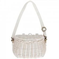 Olli Ella - mini chari bag : white