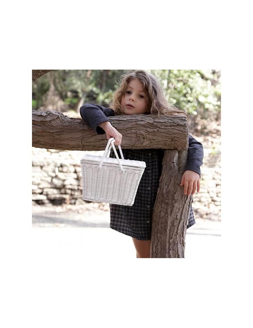 Kids wicker pic nic basket Olli Ella Mini Piki