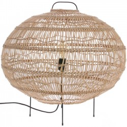 HK Living wicker oval shaped floor lamp