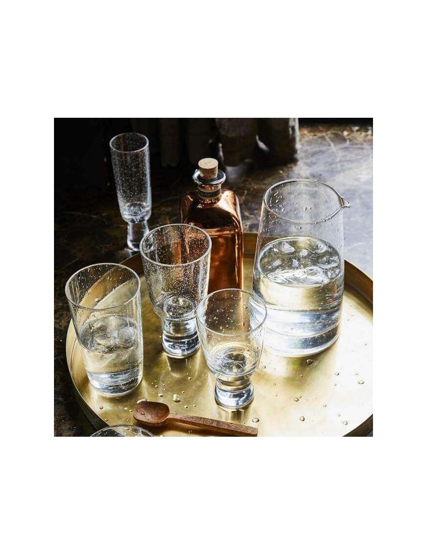 HK Living - verres à vin rouge effet bulles (x4)