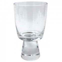 HK Living - 70's red wine glass - bubble clear glass