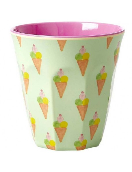 Rice - melamine cup: ice cream (medium)
