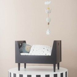 OYOY - retro doll's bed : dark grey
