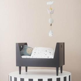 lit de poupée design: gris anthracite - Oyoy