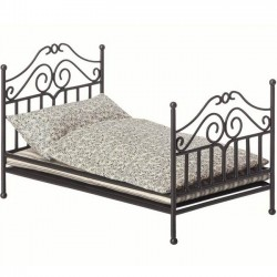 Maileg | anthracite vintage bed micro