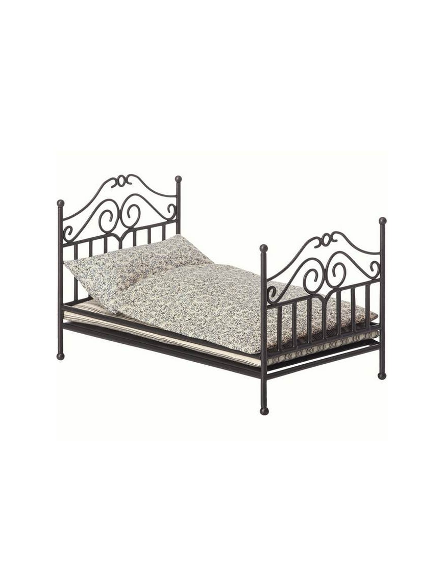 Maileg   anthracite vintage bed micro
