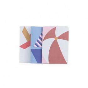 "Sticky Lemon - carnet ""summer"" set 3 (12,5x17.6cm"