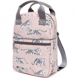Petit Monkey - backpack white tiger (pink)