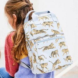 Petit Monkey - backpack tiger - grey