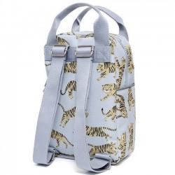 """Petit Monkey - sac à dos gris """"tigre"""" (35x25x10)"""