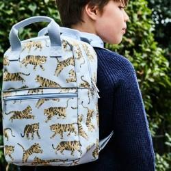Petit Monkey - backpack tiger - grey