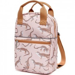 Petit Monkey - backpack leopard/gecko - pink