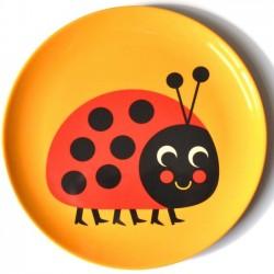 Ingela P. Arrhenius - melamine plate : ladybug