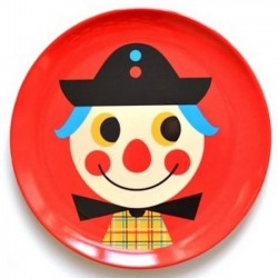 Ingela P. Arrhenius - assiette enfant clown- OMM DESIGN
