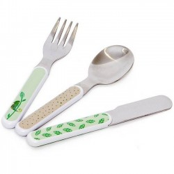 "Kids cutlery set ""sloth"" Rebecca Jones"