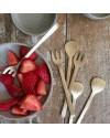 fourchette à dessert en laiton (13x3cm) | FOG LINEN