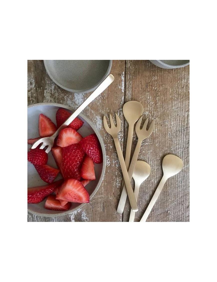 Brass dessert fork FOG LINEN