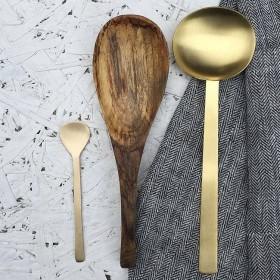 Brass serving spoon FOG LINEN