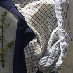 """Torchon pur lin lavé à carreaux """"Jenn"""" (65x45cm) - FOG LINEN WORK"""