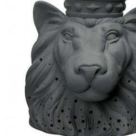 """Byon - table lamp lion """"Aslan"""" (black porcelain)"""