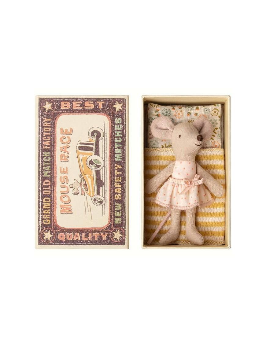 "Maileg | souris ""little sister"" dans sa boîte"