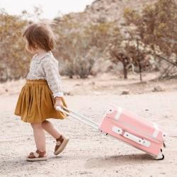 """Olli Ella kids suitcase """"See ya """" - rose"""