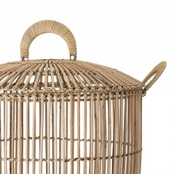 Bloomingville - rattan basket with lid (set of 2)