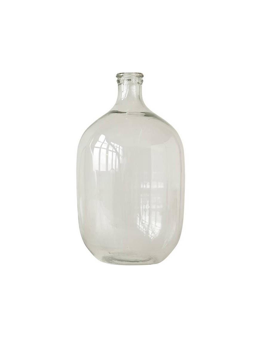 grande bouteille décorative en verre