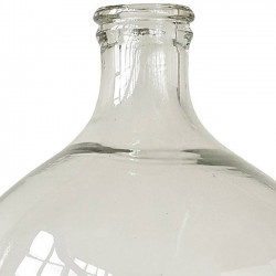 "Bloomingville - Large clear glass bottle ""Chateau'"