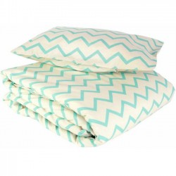 NOBODINOZ Kids Bedding set with green zig zag