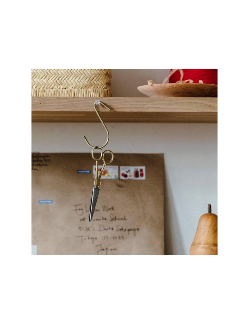 brass J hook - medium- FOG LINEN WORK