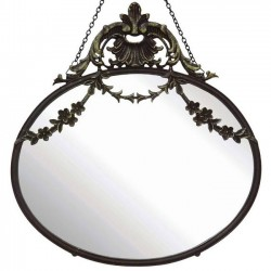 "Bloomingville - wall mirror ""Chateau collection"" : black"
