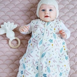 "CamCam Copenhagen Sleeping Bag ""Pressed Leaves rose"" (0-6mth)"