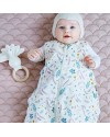 "CamCam Copenhagen Sleeping Bag ""Pressed Leaves rose"" (6-18mth)"
