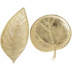 Bloomingville - plat feuille en alu doré (set de 2)