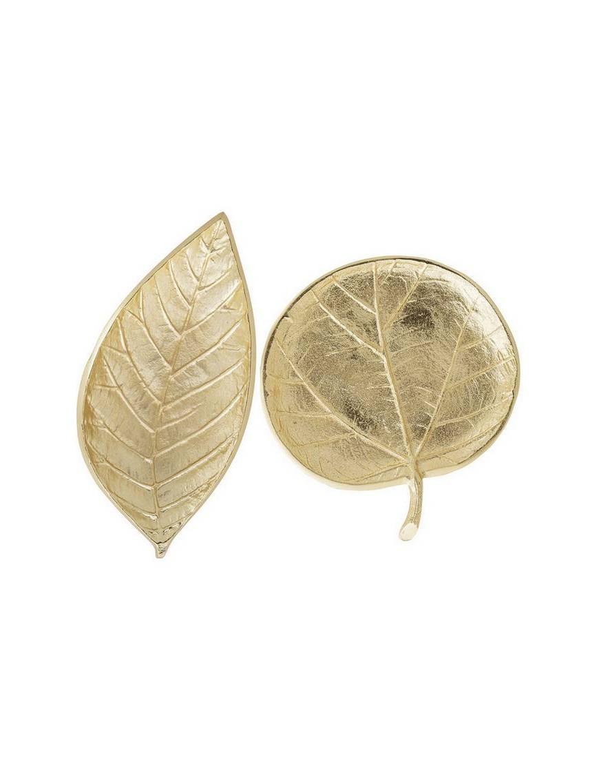 BLOOMINGVILLE - leaf tray, gold aluminium (set of 2)