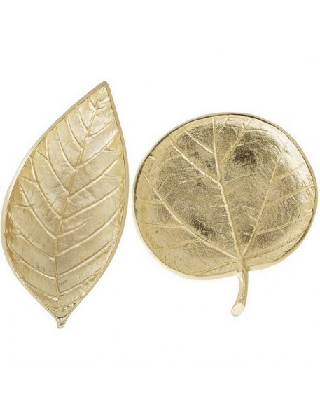 BLOOMINGVILLE - leaf tray, gold aluminium (set of 2)