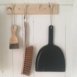 Portemanteau en bois de bouleau : 4 patères (39cm)