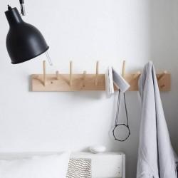 Portemanteau en bois de bouleau: multi-patères (60cm)