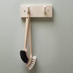 rack with 2 wooden hook (19cm) - Iris Hantverk