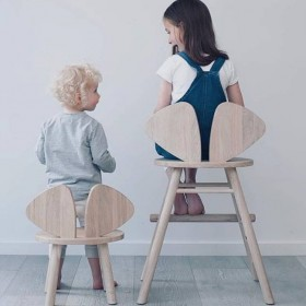 Mouse chair junior oak NOFRED