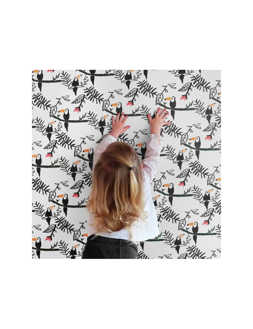 Papier-peint toucan (0.5 x 10m)
