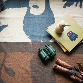 Nofred - toucan rug, brown (100x150)