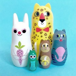 Ingela P Arrhenius - poupées russes matrioshka animals (vers.3) - OMM DESIGN