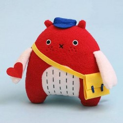 noodoll plush toy 'do' bird - red